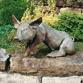 Skulptur Schwein