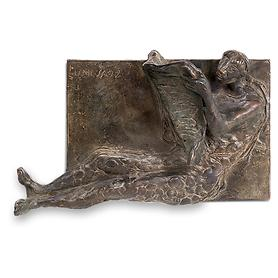 Skulptur Zeitungsleser