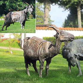 Skulpturen Ziege und Ziegenbock