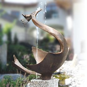 Skulptur Reiher