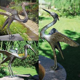 Skulpturen Fischreiher