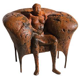 Skulptur 'Ersesselt' von Anette Mürdter