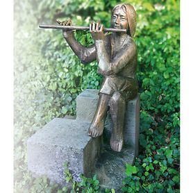 Skulptur Flötenspielerin