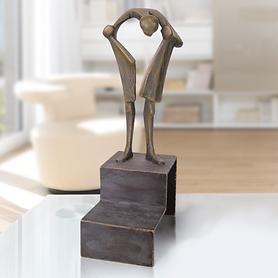 Skulptur 'Sein Herz suchend'