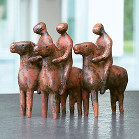 Skulptur Reitergruppe
