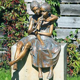 Skulptur Paar mit Flöte