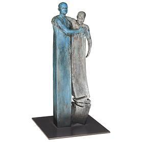 Skulptur 'Männerpaar' H 35 x B 18 x T 18 cm / Kg 5,5
