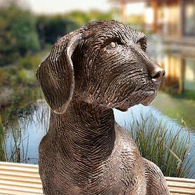 Skulptur Dackel Frodo