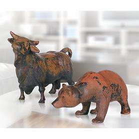 Skulptur Bulle & Bär