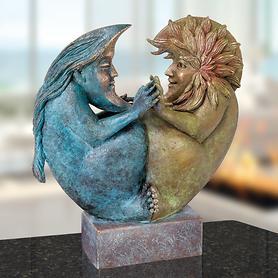 Skulptur Sonne und Mond