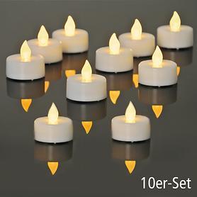 LED-Teelichter 10er-Set weiß | Dekoration > Kerzen und Kerzenständer > Teelichter