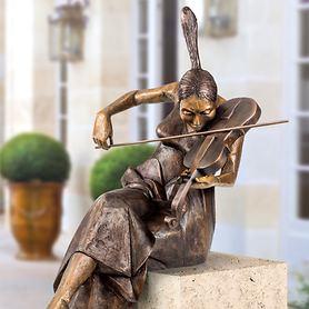 Skulptur Mädchen mit Violine