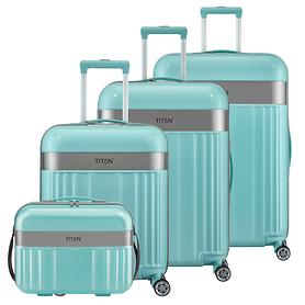 TITAN Spotlight Trolleys, 4 Rollen & Beautycase, mint