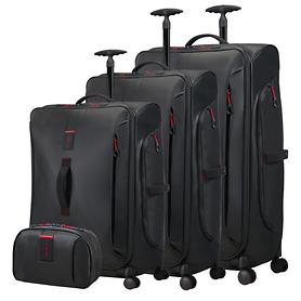 Samsonite Paradiver light Trolleys & Toilet Kit, schwarz, 4 Rollen