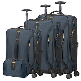 Samsonite Paradiver light Trolleys & Toilet Kit, jeans blau, 4 Rollen