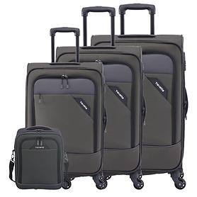 travelite Derby Trolleys & Bordtasche, anthrazit, 4 Rollen