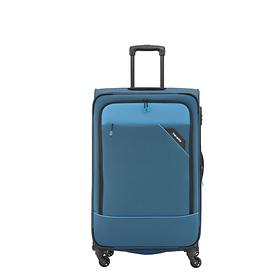 travelite Derby, 55 cm, Trolley, blau, 4 Rollen, Kabinengepäck