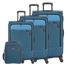 travelite Derby Trolleys & Bordtasche, blau, 4 Rollen