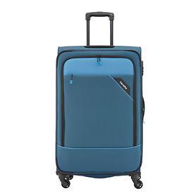 travelite Derby, 66 cm, Trolley, blau, 4 Rollen, erweiterbar
