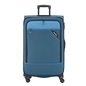 travelite Derby, 77 cm, Trolley, blau, 4 Rollen, erweiterbar