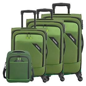 travelite Derby Trolleys & Bordtasche, grün, 4 Rollen