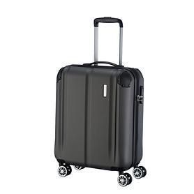 travelite City, 55 cm, Trolley, anthrazit, 4 Rollen, Kabinengepäck