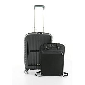Roncato DOUBLE Premium, 55 cm, Trolley, Nero, 4 Rollen, Kabinengepäck