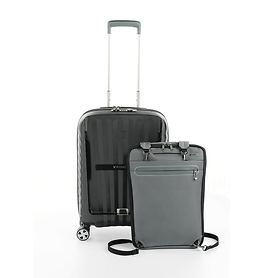 Roncato DOUBLE Premium, 55 cm, Trolley, Antracite, 4 Rollen, Kabinengepäck