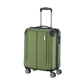 travelite City, 55 cm, Trolley, grün, 4 Rollen, Kabinengepäck