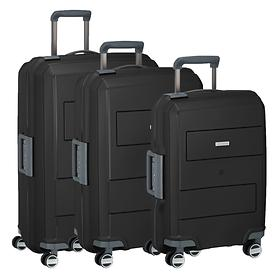 travelite Makro Trolleys, schwarz, 4 Rollen