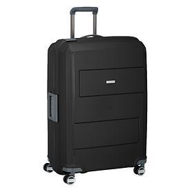 travelite Makro, 75 cm, Trolley, schwarz, 4 Rollen