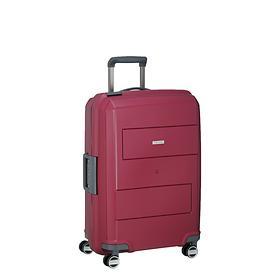 travelite Makro, 55 cm, Trolley, rot, 4 Rollen, Kabinengepäck