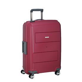 travelite Makro, 66 cm, Trolley, rot, 4 Rollen