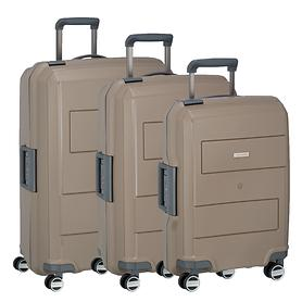 travelite Makro Trolleys, taupe, 4 Rollen