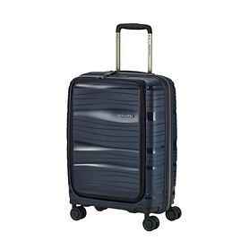 Travelite Motion, 55 cm, mit Vortasche, Trolley, marine, 4 Rollen, Kabinengepäck