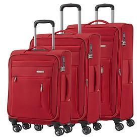travelite Capri Trolleys, rot, 4 Rollen