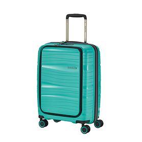 Travelite Motion, 55 cm, mit Vortasche, Trolley, minze, 4 Rollen, Kabinengepäck