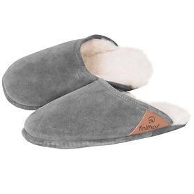 Damen Pantoffel, grau Gr.38/39 TRENDY