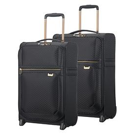 Samsonite Uplite, Trolleys, black / gold, 2 Rollen, Kabinengepäck
