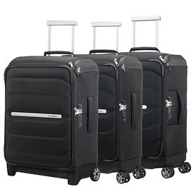 Samsonite Flux Soft Trolleys, schwarz, 2 & 4 Rollen, Kabinengepäck
