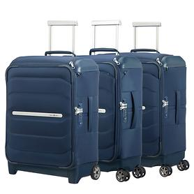 Samsonite Flux Soft Trolleys, navy blue, 2 & 4 Rollen, Kabinengepäck