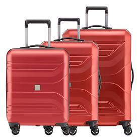 Titan Prior Trolleys, sunset red, 4 Rollen