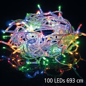 LED-Lichterkette bunt 6,9 m bunt