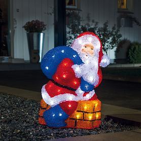 LED Acryl-Weihnachtsmann