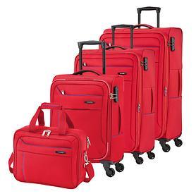 travelite Solaris, Trolleys, rot / blau, 4 Rollen