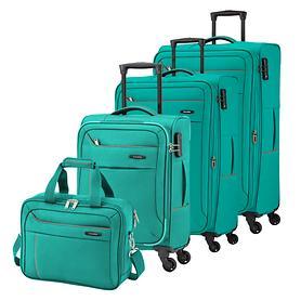 travelite Solaris, Trolleys, aqua / orange, 4 Rollen