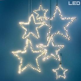 Bezaubernde LED-Sterne in 3 Größen