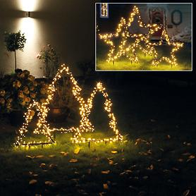 LED-Baum Santa & LED-Stern Santa