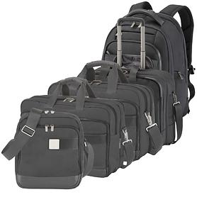 TITAN Power Pack Business Wheeler, Backpack, Laptop Bag & Shoulderbag, black