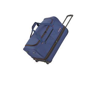 travelite Basics, 32/40 cm, Reisetasche, 2 Rollen, marine, 2 Rollen, erweiterbar